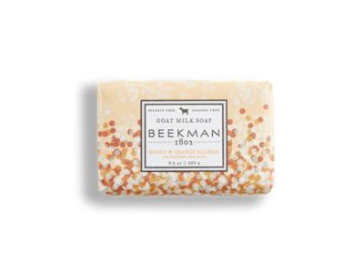 Beekman goat milk soap bar honey and orange blossom