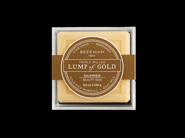 Lump of gold bar soap