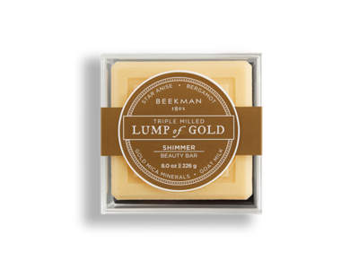 Lump of gold bar soap