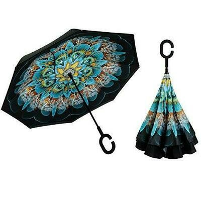 Inverted umbrella Peacock