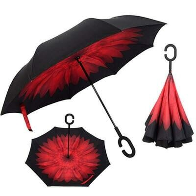 Inverted umbrella Red flower