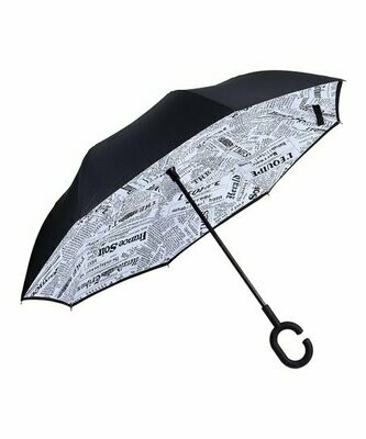 Inverted umbrella Newspaper