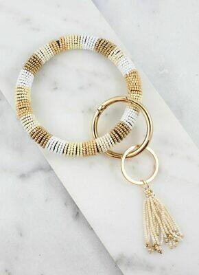 Keychain bracelet Beaded neutral