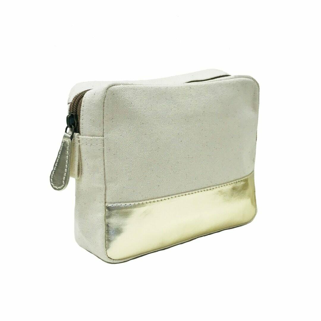 Metro pouch gold metallic