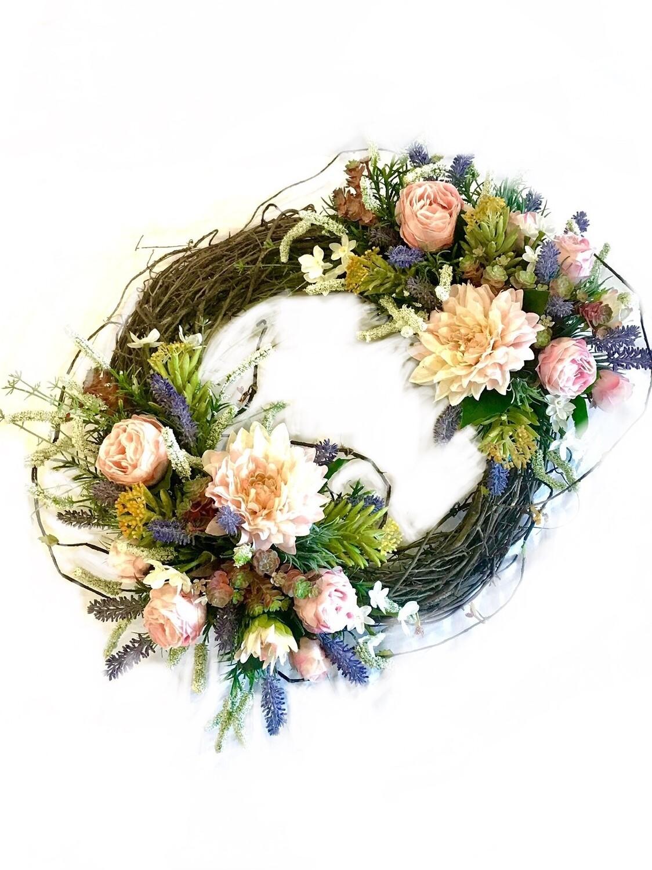 Lavender rose wreath