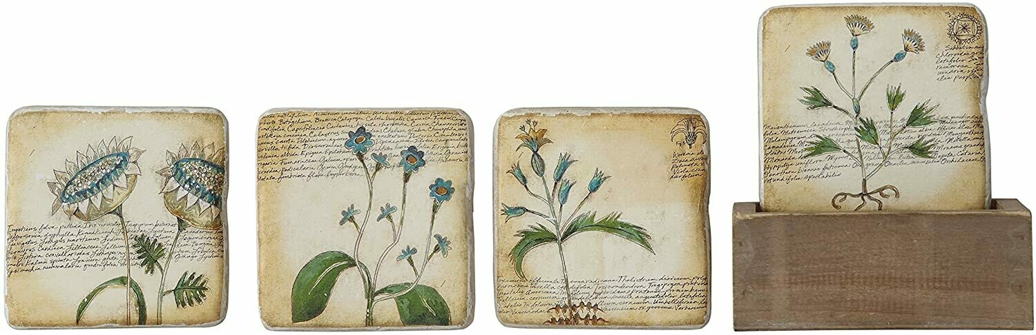Resin coasters with flowers