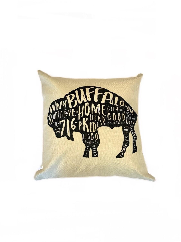 Buffalo pillow outline