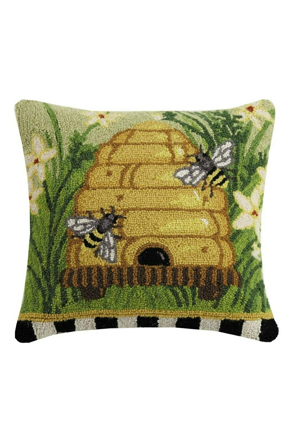 Beehive spring pillow
