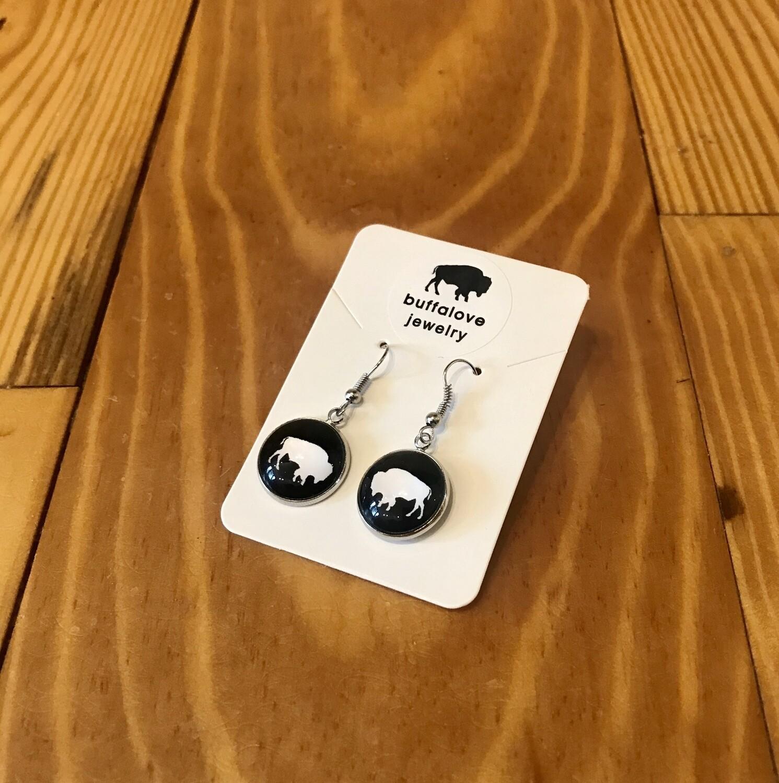 Buffalo dangle earrings black