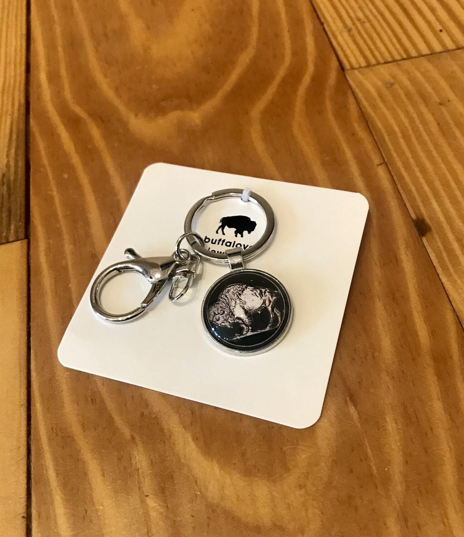 Buffalo keychain nickel