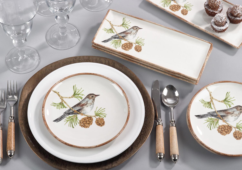 8 inch bird plate gray