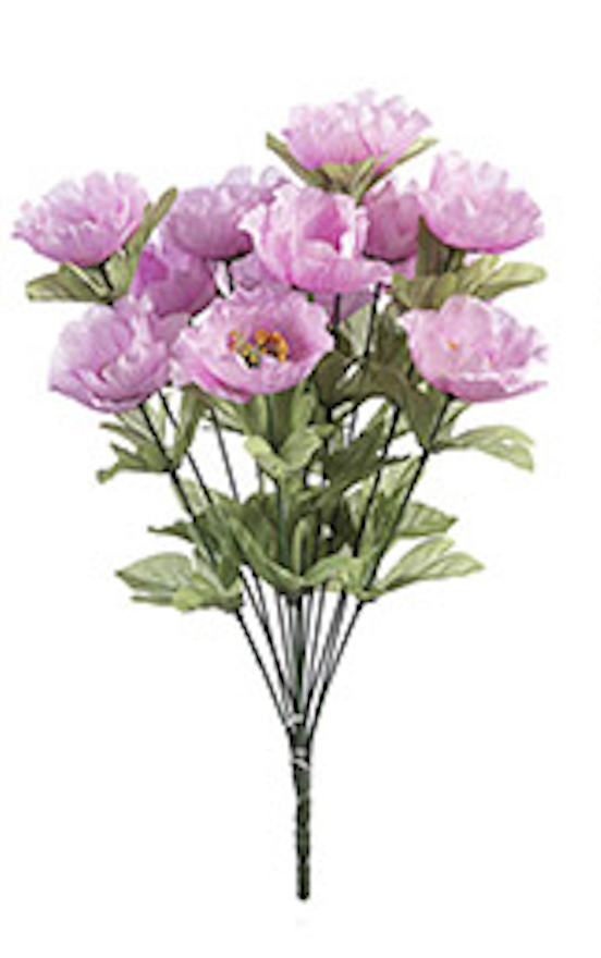 18 inch poppy bush pink