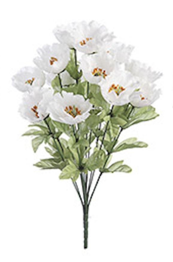 18 inch poppy bush white