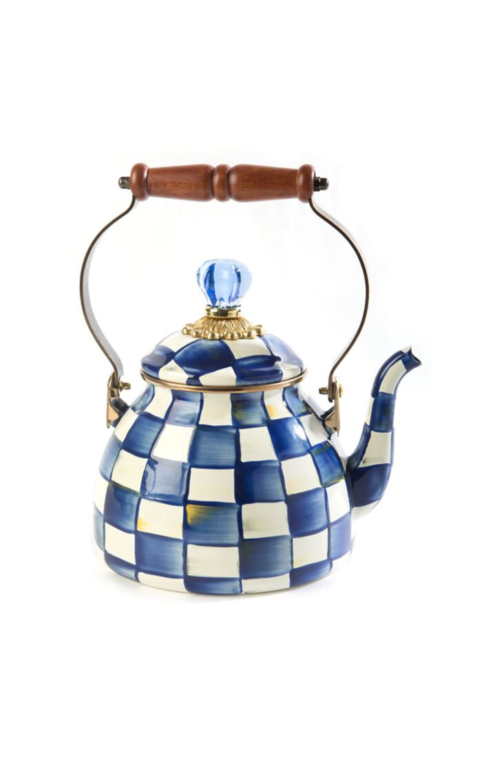 Royal check tea kettle 2 qt