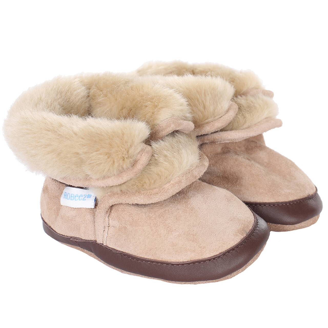 Robeez Cozy ankle bootie taupe 6-12