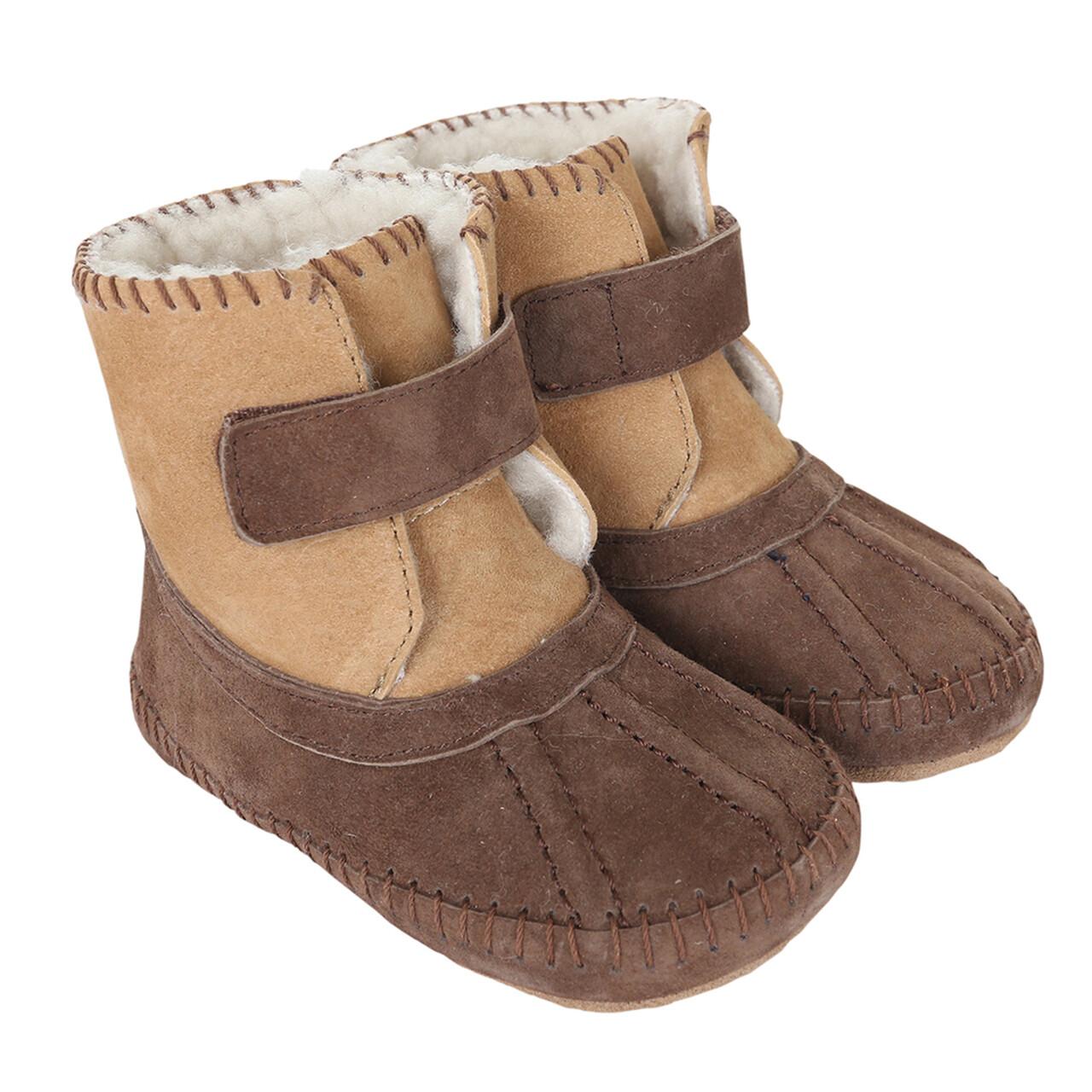 Robeez Galway cozy boot brown 18-24