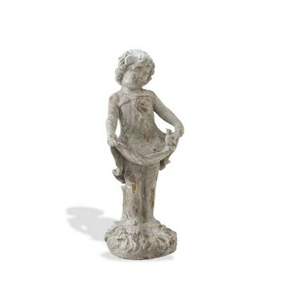 22 inch gray terra cotta garden girl