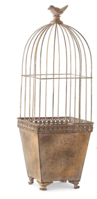 Metal pot with wire dome top large
