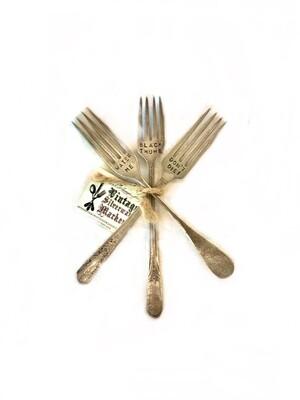 Garden markers forks