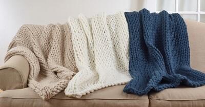 Chunky knit throw 50x60