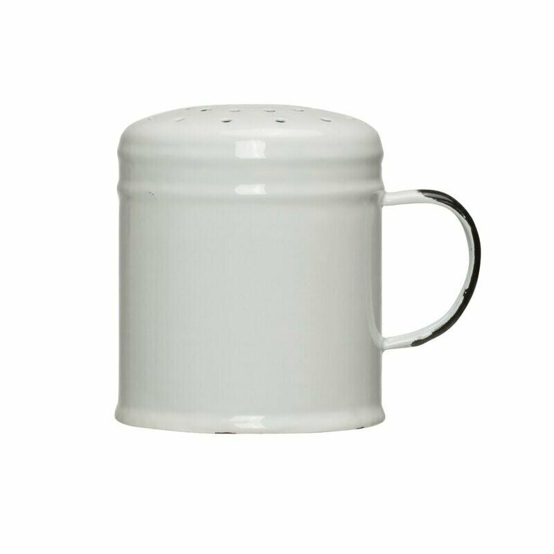Enamel shaker white