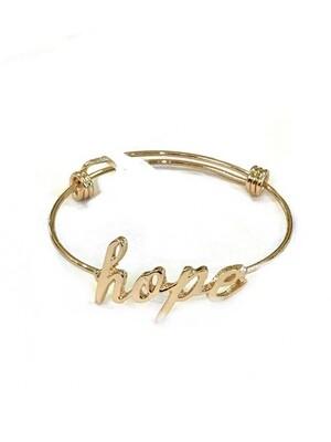 Hope wire bracelet