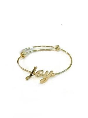 Joy wire bracelet