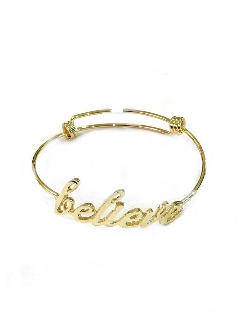Believe wire bracelet
