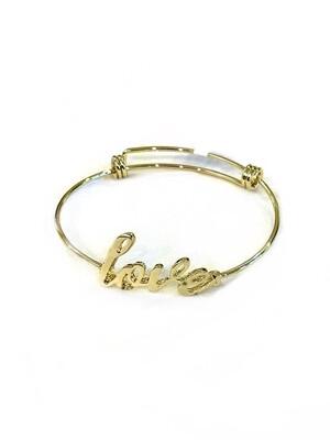 Love wire bracelet