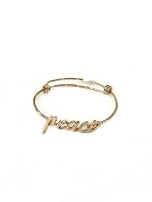 Peace wire bracelet