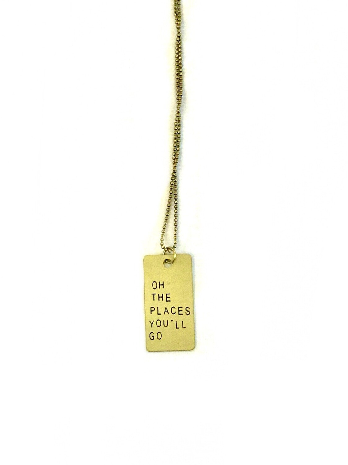 Oh the places necklace