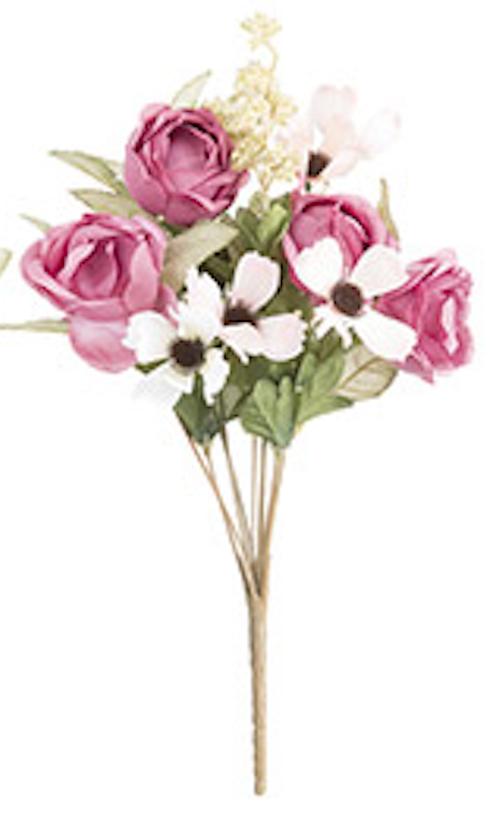 Cabbage rose bush dark pink