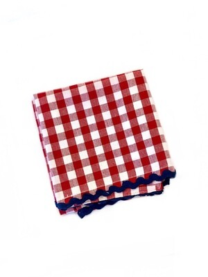 Gingham towel red