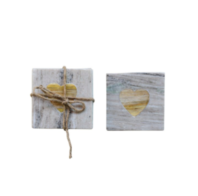 Square marble coasters set of 4