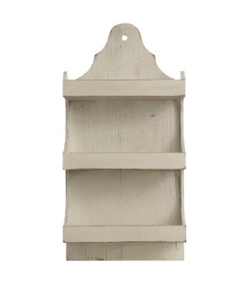 Wood wall shelf 31 inch white