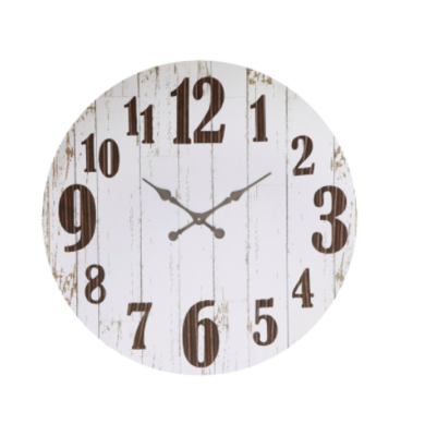 Wood and metal clock 36 inch