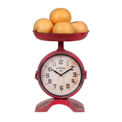 Metal 2 side scale with clock red