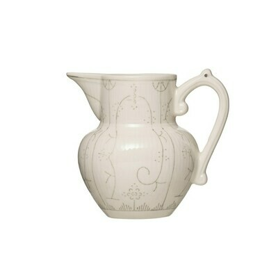 Stoneware pitcher gray 5 inch