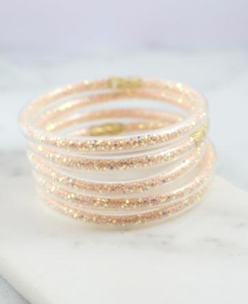 Glitter bracelet set blush sequin