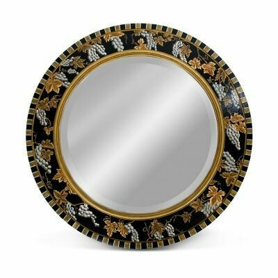 Vendage round mirror