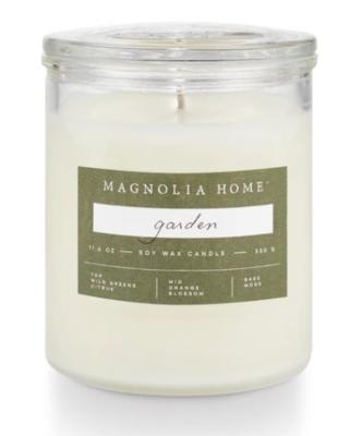 Glass jar candle garden