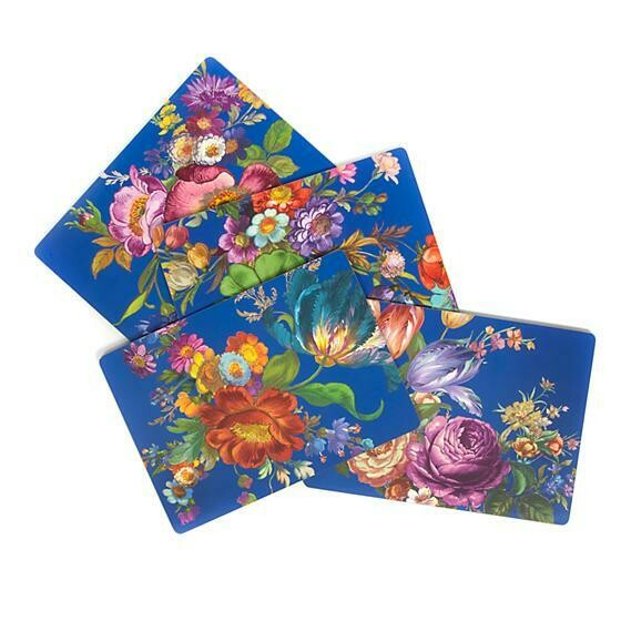 Flower market lapis cork back placemats
