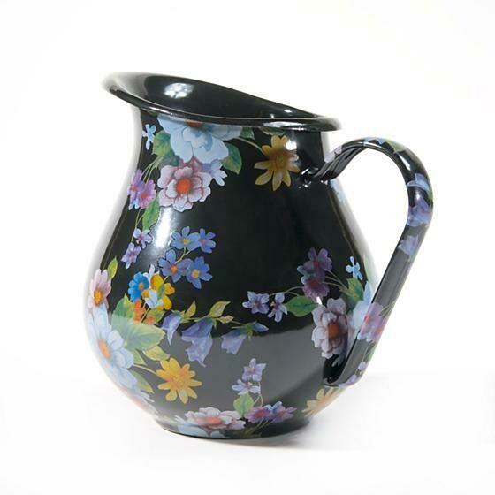 Flower market pitcher black