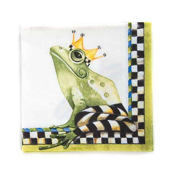 Frog paper napkins cocktail