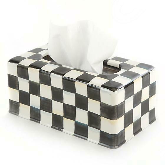 CC Enamel Standard Tissue Box Cover
