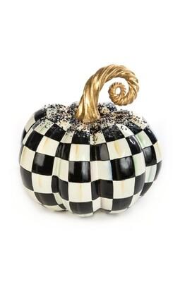 Beaded Check Pumpkin - Medium