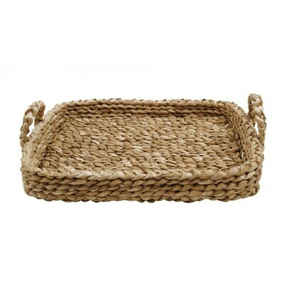 Braided tray with handles 27 inch
