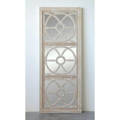 Wood glass wall mirror 24x60 inch