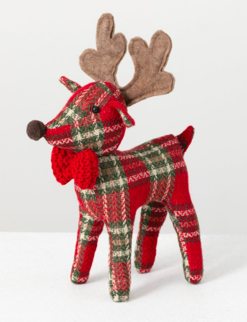 Standing reindeer with bow