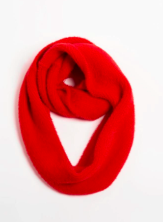 Angora infinity scarf red